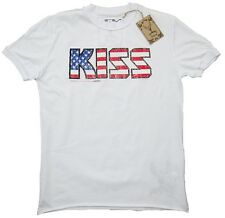 Amplified Official KISS EE.UU. Stars & Rayas Rock Star Vintage VIP Camiseta S