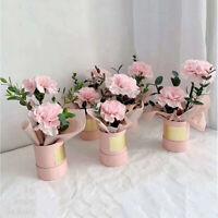 Round Flower Paper Boxes Lid Hug Florist Flower Bucket Gift Packaging Y1