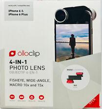 olloclip 4-IN-1 Lens Set für iPhone 6 und iPhone 6 Plus, schwarz-rot