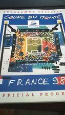 Programme Officiel Coupe Du Monde De Football 1998+3 canettes 1/8-1/4 et Final