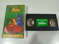 Tarzan Como se Hizo los Clasicos Walt Disney - VHS Cinta Tape Español