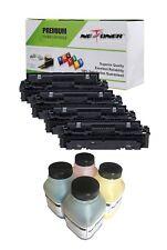 4 HY Toner + 4 Refill for Canon 045 H XL imageCLASS MF632CDW MF634CDW LBP612CW