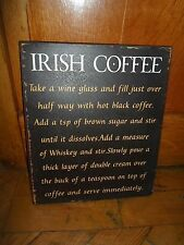 Shabby Chic Wall Hanging Sign - IRISH COFFEE - Recipe - Fab for Cafe - Bistro