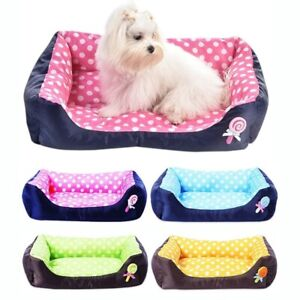 Pet Cat Dog Warm Bed House Soft Sofa Kennel Fleece All Seasons Small Medium Size