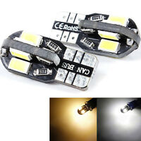 2x LED Lampe 8 SMD T10 W5W 5730 CANBus Standlicht-Innenraumbeleuchtung Weiß