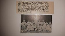 Geyser Independents Montana 1949 Baseball Team Picture