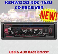 KENWOOD MODEL KDC-168U  USB & AUX BASS BOOST RCA MUSIC PLAYBACK REMOTE
