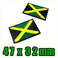 1x Jamaica Patch Flag Embroidered Jamaican Iron On National Caribbean Bob Marley