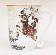 "Williams Sonoma Twas the Night Before Christmas Reindeer 4 5/8"" Coffee Mug NEW"