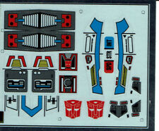 TRANSFORMERS GENERATION 1, G1 AUTOBOT HIGHBROW REPRO LABELS / STICKERS