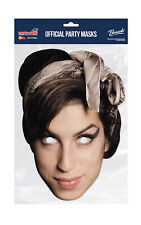 Amy Winehouse Face Party Mask Card A4 Fancy Dress Music Singer Ladies Men Kids