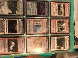 Star wars ccg decipher A new hope complete set black border