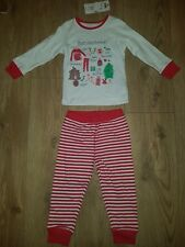 Mothercare Noël Filles Pyjama 18-24 mois NEUF