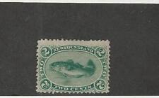 Newfoundland, Postage Stamp, #24 Mint Hinged, 1865 Fish