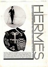 Original French Vintage Advert Ad - HERMES Hermès Winter Sport Sweater - 1929