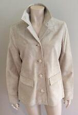 Bnwt Ladies Real Suede Next Beige Cost Jacket Size 12