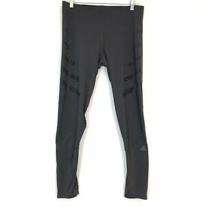 NEW Adidas How We Do Tights Womens Large Speed Climalite Reflective Tech Grey