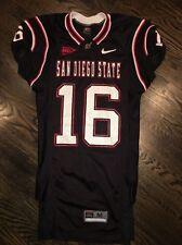 Game Worn Used San Diego State Aztecs Football Jersey #16 Nike SDSU Size Medium