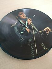 Elvis Presley Picture Disc LP Vinyl Record Clock Retro Upcycled Vintage