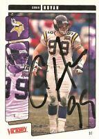 2001 Upper Deck Victory Football Signed Chris Hovan Minnesota Vikings Card #192