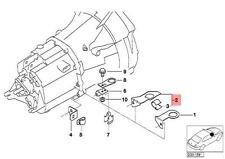 Genuine BMW E36 Z3 Cabrio Lambda Probe Oxygen Sensor Bracket OEM 11781247999