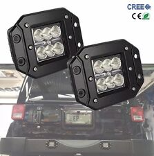 2 pcs Dually Flush Mount 24W CREE Flood LED Light Pod Ford Jeep 4X4 Off-Road ATV
