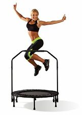 Cardio Exercise Trampoline Trainer w/ Hand Rail - Marcy ASG-40 Aerobic Rebounder
