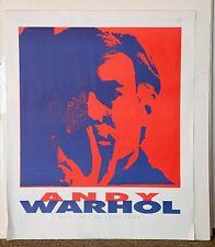 Vintage Mid Century Modern Unframed Andy Warhol Self Portrait Poster Red 1960s