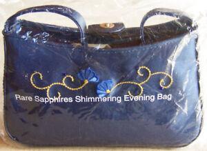"""Vntg 2000 Avon """"RARE SAPPHIRES SHIMMERING EVENING BAG"""" Nylon & Vinyl - SEALED!"""