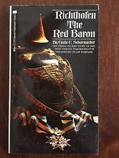 RICHTHOFEN: RED BARON By Emile C. Schurmacher 1972 Paperback