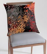 """Multi-Color Polyester Abstract """"Rust"""" Throw Pillow 20"""" x 20"""""""