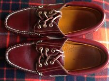 VTG 1990'S EASTLAND BOAT DECK LEATHER DRIVING SHOES w/ RUBBER WAFFLE SOLE R$248