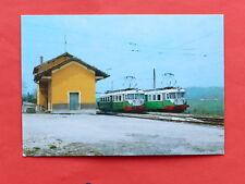 Cartolina Treni - Ferrovia Sangritana FAA - Elettromotrici - Stazione S. Eusanio
