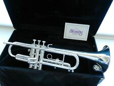 Beautiful Silver BLESSING USA XL-TR Trumpet - Smooth Valves - EXCELLENT A+