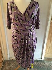 Geometric Plus Size Wrap Dresses