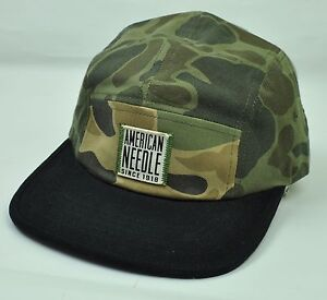 American Needle Mens Adults Adjustable Sun Buckle Curved Bill Green Army Hat Cap