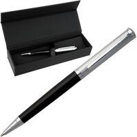 HUGO BOSS Kugelschreiber, Drehmechanik, Farbe Schwarz Chrom, Ballpoint Pen, NEU