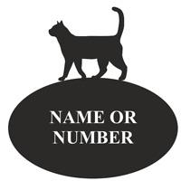 Cat Sitting Metal Personalised Hanging Sign