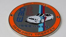 BMW E30 1982-94 Club grill badge emblem badge E30 badge in enamel Meet badge