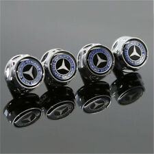 NEW 4X Car License Plate Frame Security Screw Bolt Caps Covers For Mercedes Benz