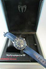 Preowned Technomarine Techno Sport Men's blue swiss Watch w box WORKING