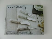 OCCASION 4 Piece specialty Cheese Knife Set BNIB FREE UK P&P