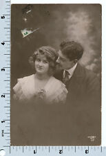 Loving Couple Postcard French RPPC Man and Woman 1912 JK 117