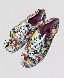 Vans disney princess lace up trainers sneakers skate shoes 42 8 UK