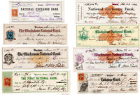 """CIVIL WAR """"Alabama Claims"""" Lawyer, RR Tycoon Edwin H. Abbot 10 Signed Checks"""