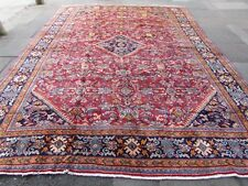 Old Hand Made Traditional Persian Rugs Oriental Wool Red Large Carpet 410x300cm