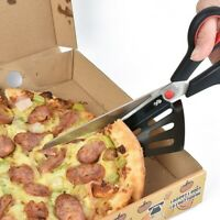 Pizza Scissor Cutter Stainless Kitchen Slicer Knife With Detachable Spatula 28cm