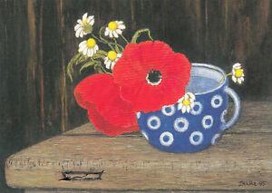 Postkarte: Heide Dahl - Mohn u. Margeriten