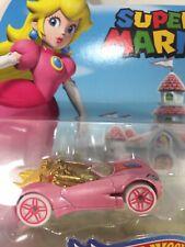 Nw 2017 Hot Wheels Super Mario Princess Peach Character Die Cast Car Collectible