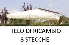 TOP TELO RICAMBIO OMBRELLONE DECENTRATO LEGNO 3x3 CON AIRVENT ECRU IMPERMEABILE